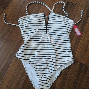 Xhilaration Striped one piece swimsuit
